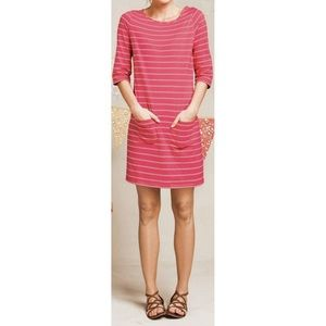 Boden pink and white striped tunic